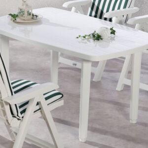 Table de jardin FIESTA blanc