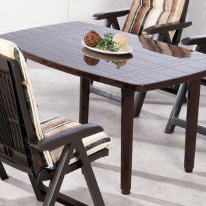 Table de jardin FIESTA brun