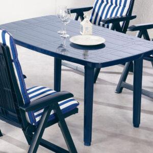 Table de jardin FIESTA bleu