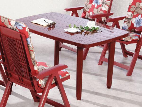 Table de jardin FIESTA bordeaux