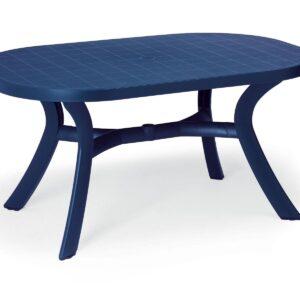 Table de jardin ovale KAZAK 145 cm bleu