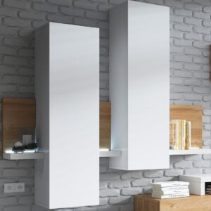 Armoire murale BOTSWANA 2 portes blanc/chêne grandson