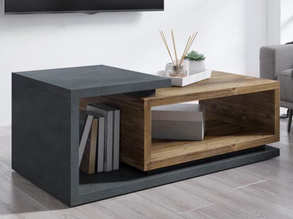 Table basse rectangulaire BOTSWANA 120 cm matera/chêne appenzeller
