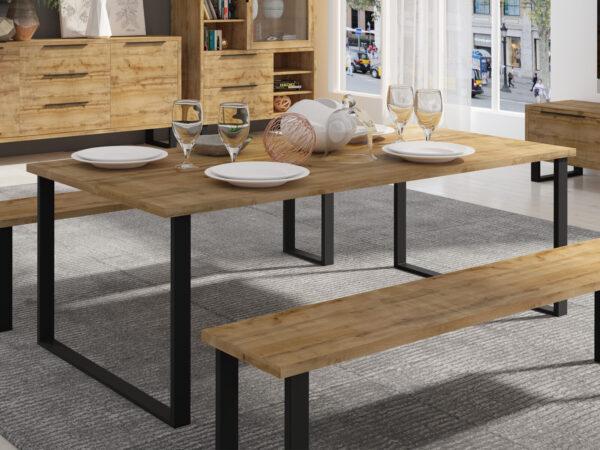 Table repas HALO 200 cm chêne wotan