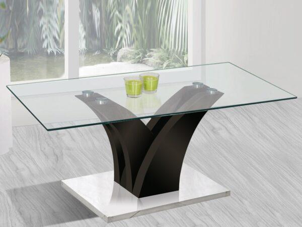 Table basse rectangulaire YAKARI 110 cm noir laqué