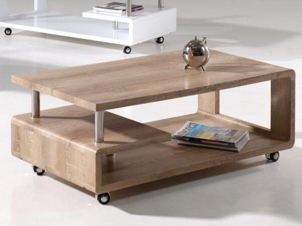 Table basse rectangulaire PIONUS 115 cm chêne vieilli