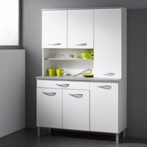 Buffet/bahut SERENA 6 portes et 1 tiroir blanc