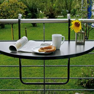 Table de balcon à suspendre BUTTERFLY anthracite