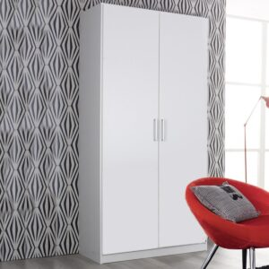 Armoire ALBANO 2 portes blanc/gris lave