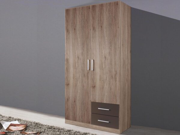 Armoire ALBANO 2 portes 2 tiroirs (droite) sonoma/gris lave