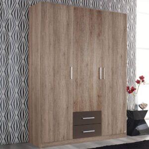 Armoire ALBANO 3 portes 2 tiroirs sanremo/gris lave