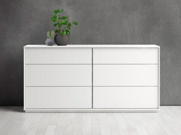 Commode SWEDEN 6 tiroirs blanc