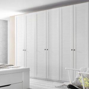 Armoire AGATHA 6 portes blanc