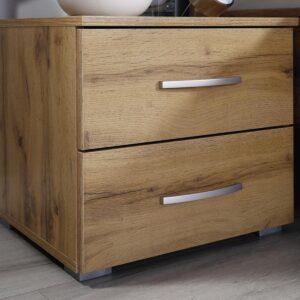 Chevet COLUMBO 2 tiroirs chêne wotan