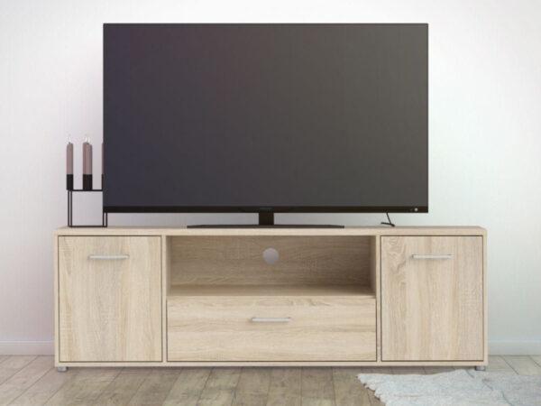 Meuble tv-hifi MACHU 2 portes 1 tiroir chêne