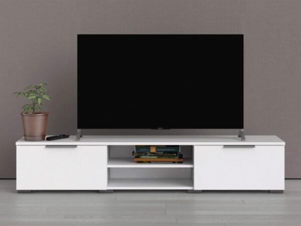 Meuble tv-hifi MATRIX 2 tiroirs blanc