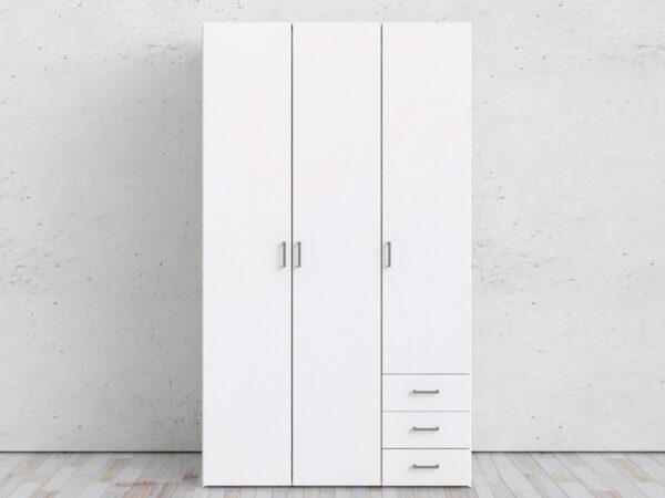 Armoire SPACIO 3 portes 3 tiroirs blanc