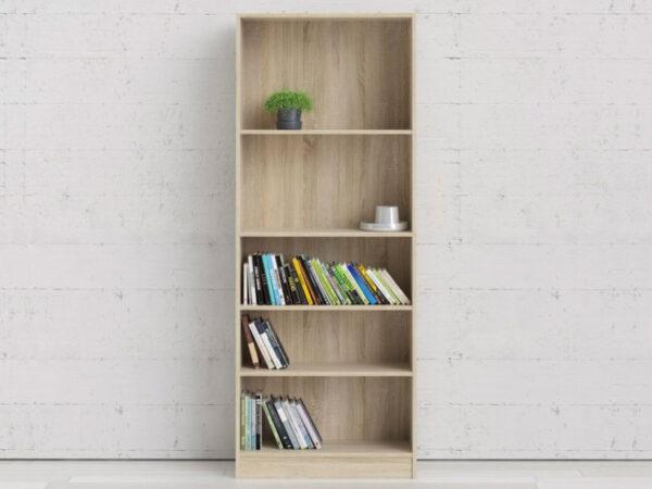 Bibliothèque BASO 5 niches chêne