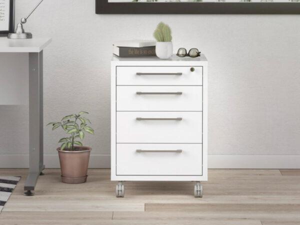 Caisson de bureau PRIMOZ 4 tiroirs blanc