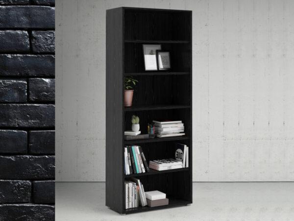 Armoire PRIMOZ 6 niches frêne noir