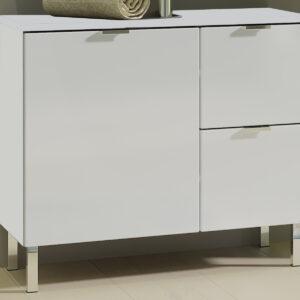 Meuble sous-lavabo MANAU 1 porte 2 tiroirs blanc