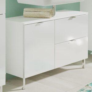 Meuble sous-lavabo MANAU 2 portes 1 tiroir blanc