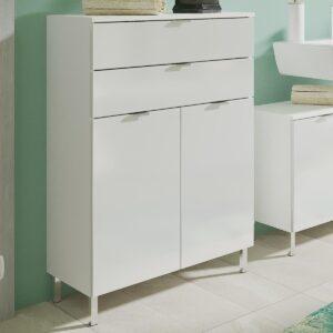 Commode MANAU 2 portes 2 tiroirs blanc
