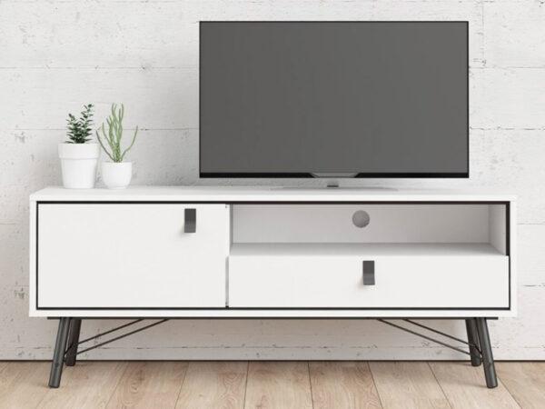Meuble tv-hifi RYO 1 porte 1 tiroir blanc