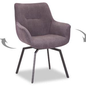 Chaise pivotante MODIL gris