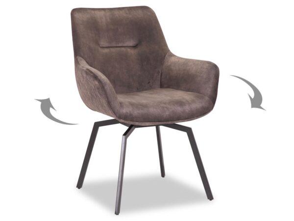Chaise pivotante MODIL taupe