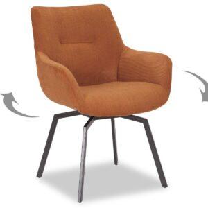 Chaise pivotante MODIL orange