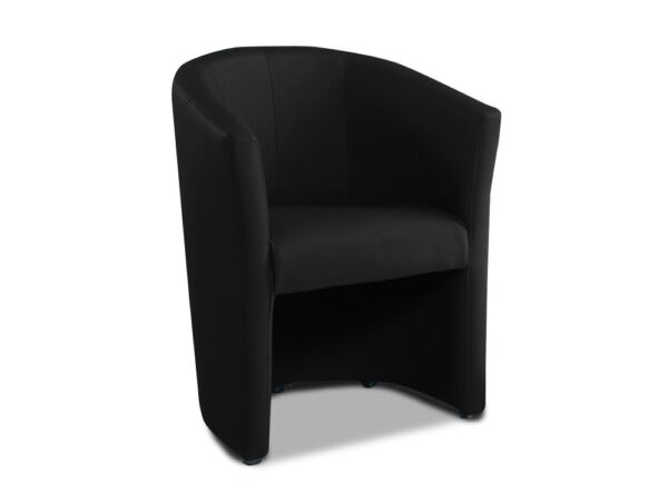 Fauteuil cabriolet moderne TANNA eco-cuir noir