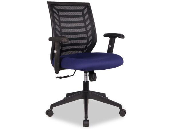 Chaise de bureau DIEGA bleu/noir