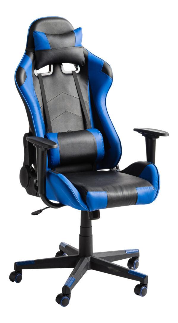 Chaise gaming FARMER inclinable bleu/noir