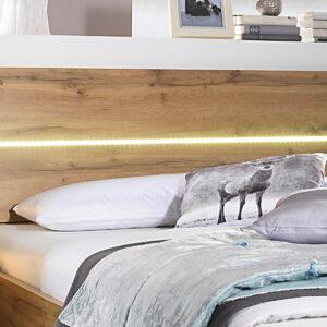 Tête de lit SCARLETT 160x200 cm chêne wotan avec led