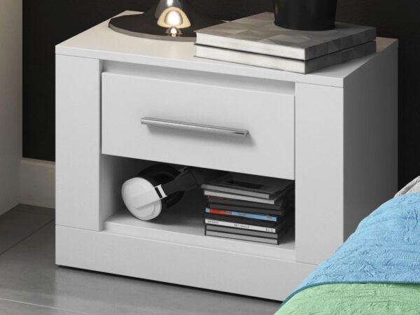 Chevet ARTI 1 tiroir blanc