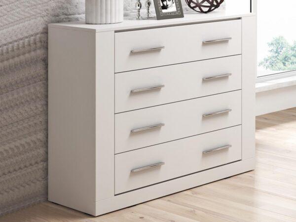 Commode ARTI 4 tiroirs blanc
