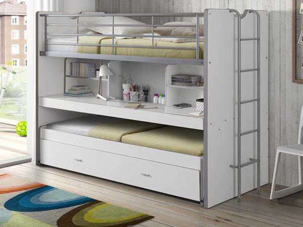 Lit enfant combiné BONNY V 90x200 cm blanc