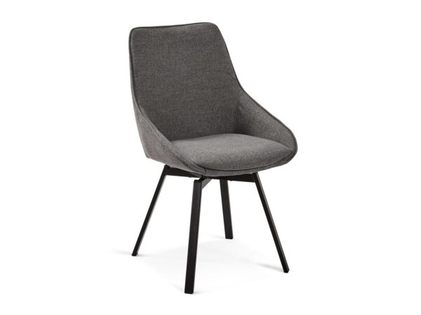 Chaise pivotante JENNY gris foncé