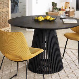 Table repas ronde JEAN 120 cm noir