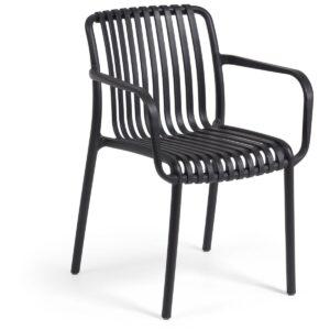 Chaise de jardin empilable ISABEAU noir