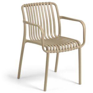 Chaise de jardin empilable ISABEAU beige