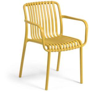 Chaise de jardin empilable ISABEAU moutarde