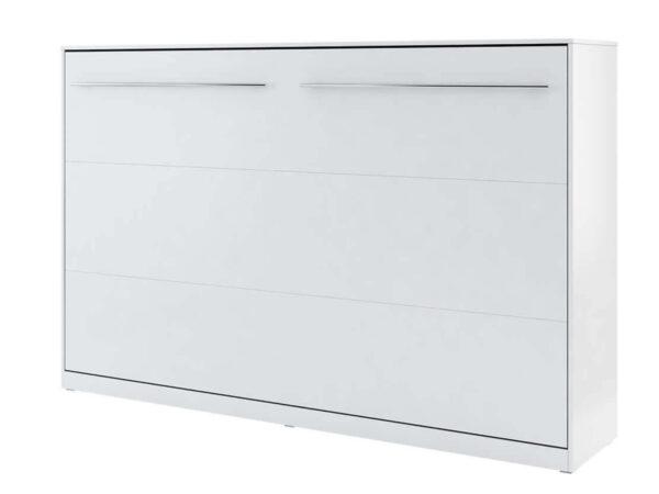 Lit mural escamotable CONCEPTION 120x200 cm blanc mat (horizontal)