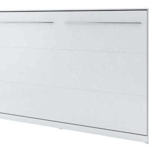 Lit mural escamotable CONCEPTION 120x200 cm blanc mat (horizontal) avec matelas