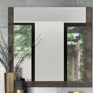 Miroir DILLY 100 cm chêne vintage brillant