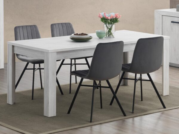 Table repas ELVITA 170 cm chêne blanchi