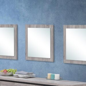 Lot de 3 miroirs ELINA chêne gris