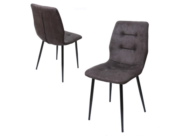 Lot de 4 chaises ELINA gris