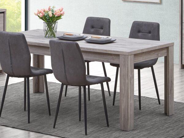 Table repas ELINA 170 cm chêne gris